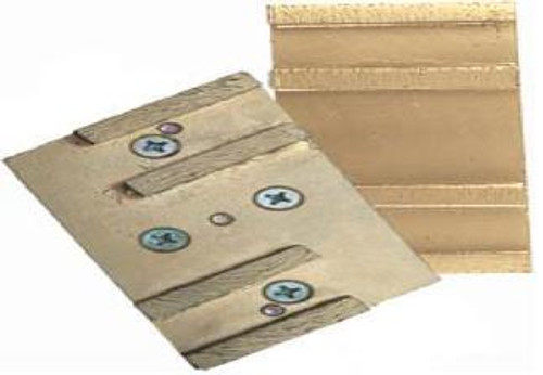 Pearl Abrasive Hexpin Floor Preparation System Diamond Segmented Pad (4 segments) Hexplate Attachment for 15 inch plate, includes Pad, Nuts and Washers HEX4PAD-MFD