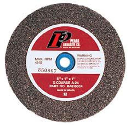 Pearl Abrasive Type 1 Aluminum Oxide Bench Grinding Wheels A24, A36, or A60 Grit 10 x 1 x 1-1/4 BA101024, BA101036, BA101060