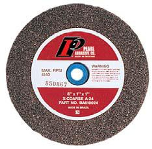Pearl Abrasive Type 1 Aluminum Oxide Bench Grinding Wheels A24, A36, A46, A60 or A80 Grit 8 x 1 x 1 BA810024, BA810036, BA810046, BA810060, BA810080