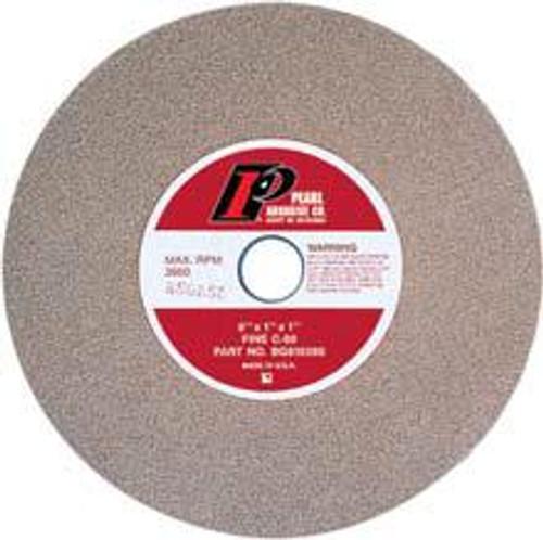 Pearl Abrasive Type 1 Green Silicon Carbide Bench Grinding Wheels C60, C80, or C120 Grit 8 x 1 x 1 BG810060, BG810080, BG810120