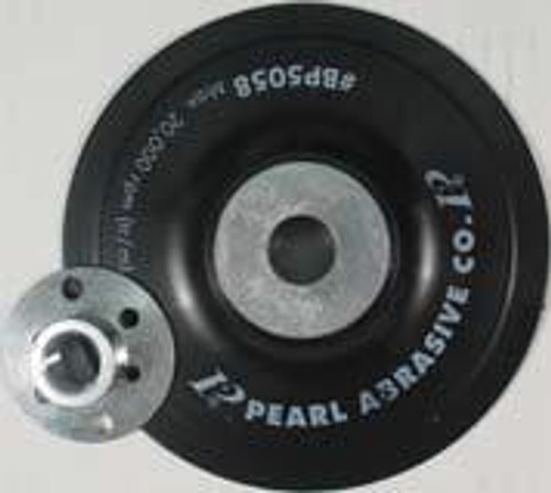 Pearl Abrasive Smooth Faced Backup Pad for Fiber Discs 4 x M10 x 1.25 Center Nut BP0410