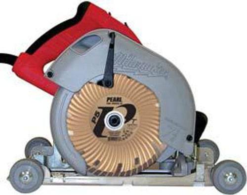 Pearl Abrasive Sidewinder Blade Roller for Left and Right Circular Saws BR7001C (Shown with saw and diamond blade)