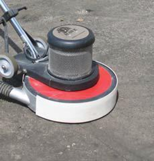 Pearl Abrasive Buf-Vac for 17 inch Buffers w/Hose Port and Rubber Vacuum Shield BUFVAC1