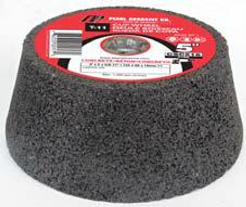 Pearl Abrasive T-11 Silicon Carbide Grinding Cup Stone for Concrete C16Q Grit 10ct Case 4 x 2 x 5/8- 11 CSC416