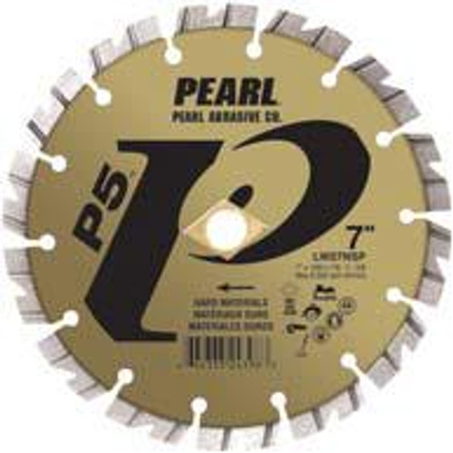 Pearl Abrasive P5 Segmented Diamond Blade for Hard Materials 4 x .090 x 7/8, 5/8, 20mm LW04NSP