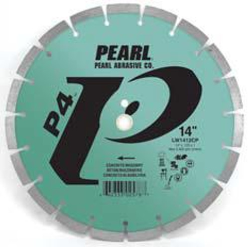 Pearl Abrasive P4 Segmented Diamond Blade for Concrete and Masonry 10 x .080 x DIA- 5/8 Adapter LW1008CP