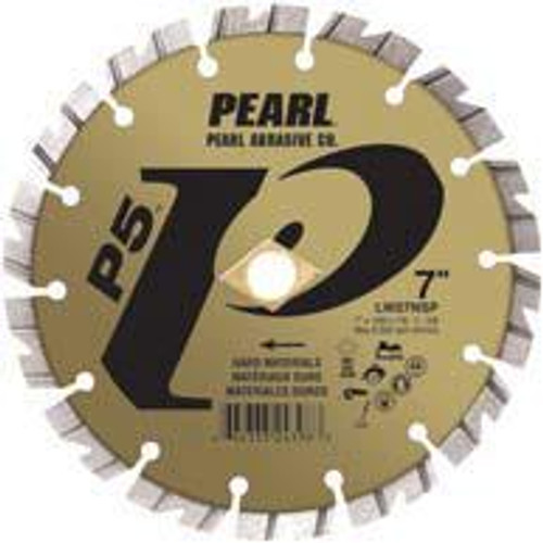 Pearl Abrasive P5 Segmented Diamond Blade for Hard Materials 10 x .100 x 1, 5/8 LW10NSP