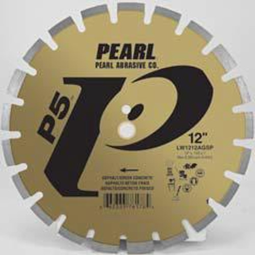 Pearl Abrasive P5 Segmented Diamond Blade for Asphalt and Green Concrete 12 x .125 x 20mm LW1212AGSP2