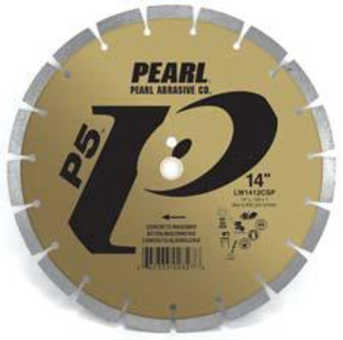 Pearl Abrasive P5 Segmented Diamond Blade for Concrete and Masonry 12 x .125 x 20mm LW1212CSP2