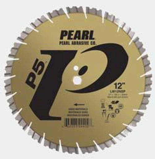 Pearl Abrasive P5 Segmented Diamond Blade for Hard Materials 12 x .125 x 1, 20mm LW12NSP