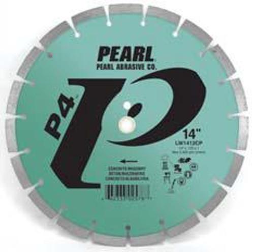 Pearl Abrasive P4 Segmented Diamond Blade for Concrete and Masonry 14 x .110 x 20mm LW1411CP2