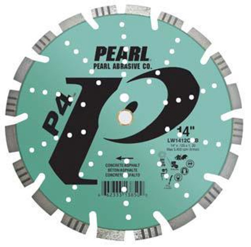 Pearl Abrasive P4 Segmented Combo Diamond Blade for Concrete and Asphalt 14 x .125 x 1, 20mm LW1412CMB