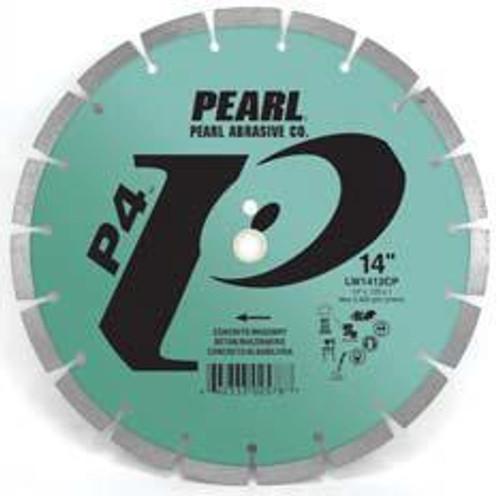 Pearl Abrasive P4 Segmented Diamond Blade for Concrete and Masonry 14 x .125 x 1, 20mm LW1412CP