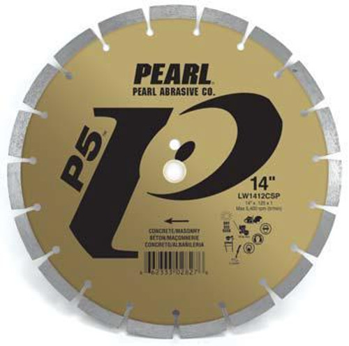 Pearl Abrasive P5 Segmented Diamond Blade for Concrete and Masonry 14 x .125 x 20mm LW1412CSP2