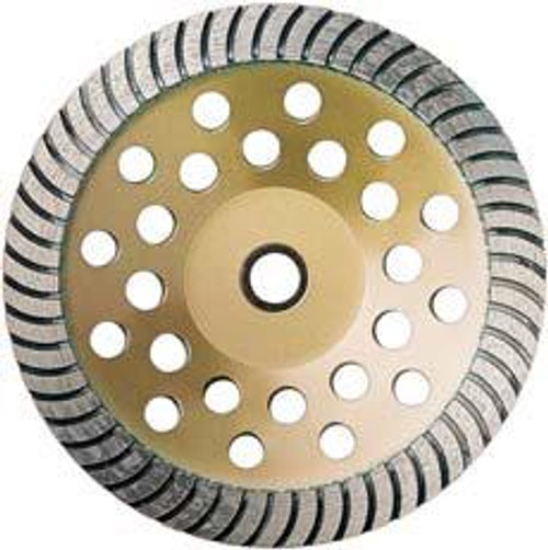 Pearl Abrasive P5 Heavy Duty Cup Wheel for General Purpose 7 x 7/8- 5/8 Coarse SW07C