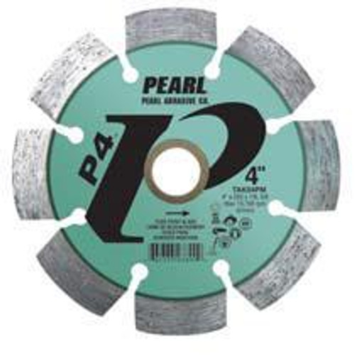 Pearl Abrasive P4 Pro-V Tuck Point Blade 4 x .250 x 7/8- 5/8 Adapter TAK04PM