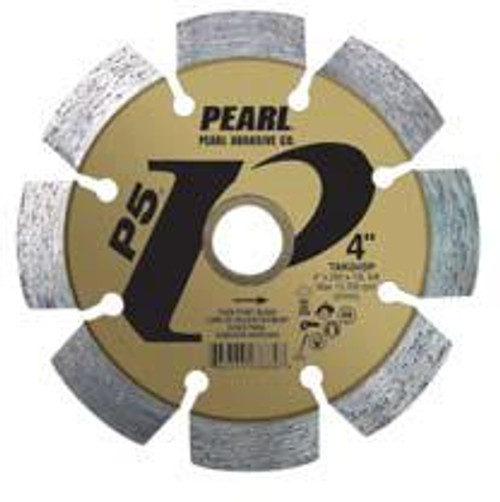 Pearl Abrasive P5 Pro-V Tuck Point Blade 4 x .250 x 7/8- 5/8 Adapter TAK04SP