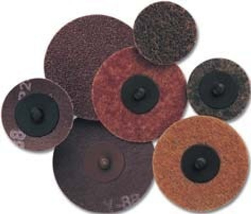 Pearl Abrasive Surface Preparation Aluminum Oxide Scotch-Brite Quickmount Mini-Conditioning Discs Laminated Cloth 50ct Box A24 Grit 2 inches CD2024Q
