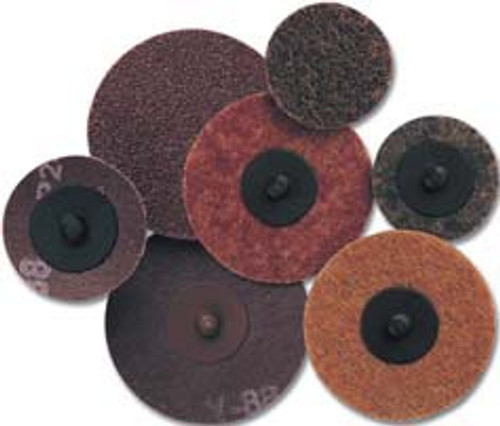 Pearl Abrasive Surface Preparation Aluminum Oxide Scotch-Brite Quickmount Mini-Conditioning Discs Laminated Cloth 25ct Box A100 or A120 Grit 3 inches CD3100Q, CD3120Q