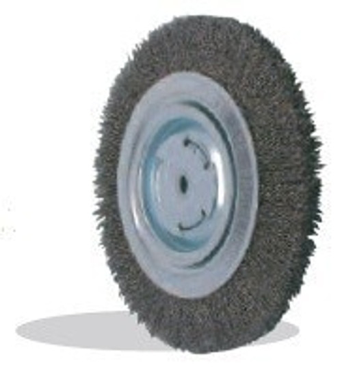 Pearl Abrasive Tempered Wire Bench Wheel Wire Brush 6 x 1 x 1 CLBW610