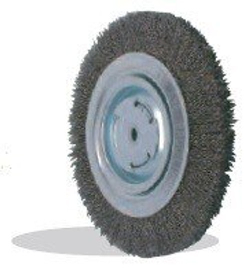 Pearl Abrasive Tempered Wire Bench Wheel Wire Brush 8 x 1 x 1 CLBW810