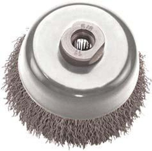 Pearl Abrasive Tempered Wire Crimped Cup 5 x .015 x 5/8-11 CLWBC558