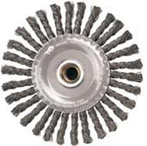Pearl Abrasive Tempered Wire Stringer Bead Twist Knot Wheel 5 x .020 x 5/8-11 CLWBK558B