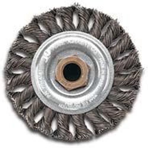 Pearl Abrasive Stainless Steel Regular Twist Knot Wheel 5 x .020 x 5/8-11 CLWBK558TS