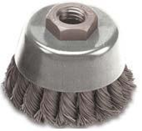Pearl Abrasive Tempered Wire Knot Cup 6 x .020 x 5/8-11 CLWBK658