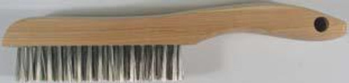 Pearl Abrasive 4 x 16 Stainless Steel Shoe Handle Wire Scratch Brush 12ct Box SCB416S