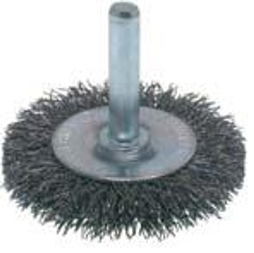 Pearl Abrasive Stainless Steel Crimped Wheel End Brush 2 1/2 x .0118 x 1/4 CLCWEB212S