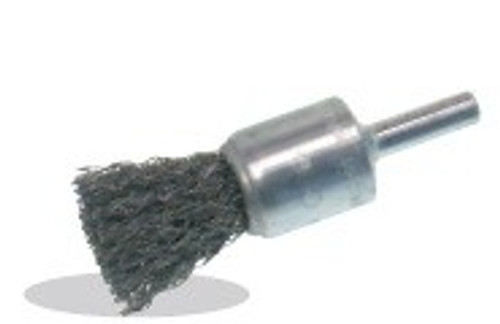 Pearl Abrasive Stainless Steel Crimped End Brush 1 x .014 x 1/4 CLCEB1S