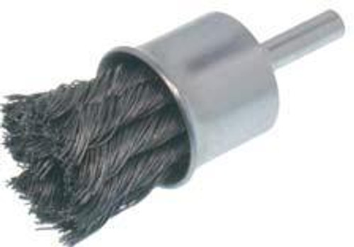 Pearl Abrasive Tempered Wire Knot End Brush 1 x .014 x 1/4 CLKEB1