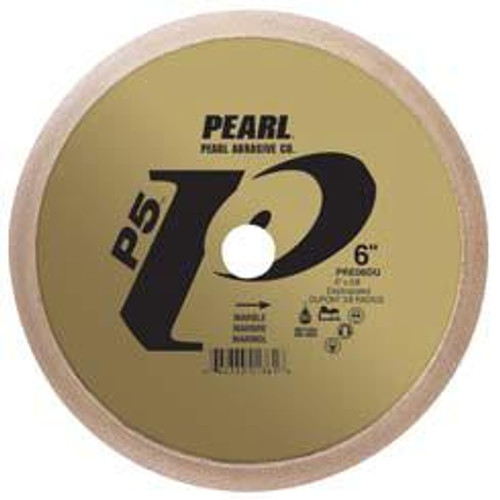 Pearl Abrasive P5 Diamond Profile Wheel Electroplated for Granite 6 x 5/8 45 degree Bevel PRM06BE
