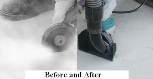 Pearl Abrasive QuikAttach for 4 and 4 1/2 inch Grinders VACCUT45 (Before and After)