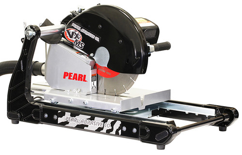 "Pearl Abrasive 14"" 3 HP Masonry Brick Saw w/Dust Collection VX141MSD"