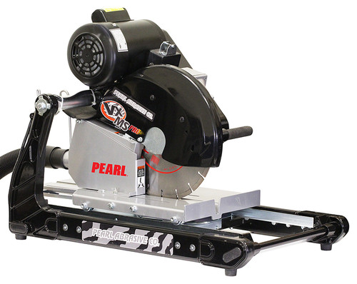 "Pearl Abrasive 14"" 2 HP Induction Motor Masonry Brick Saw w/Dust Collection VX141MSPROD"