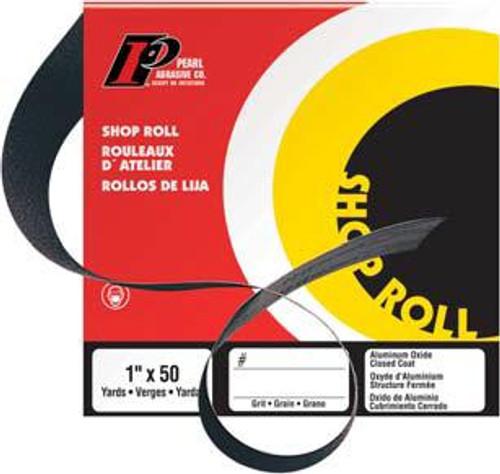 Pearl Abrasive Aluminum Oxide Premium Shop Roll A120, A150, A180, A240 or A320 Grit 1 x 50 yards SR1120, SR1150, SR1180, SR1240, SR1320