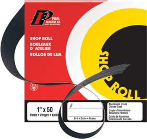 Pearl Abrasive Aluminum Oxide Premium Shop Roll A120, A150, A180, A220, A240, A280, A320 or 400 Grit 2 x 50 yards SR3120, SR3150, SR3180, SR3220, SR3240, SR3280, SR3320, SR3400