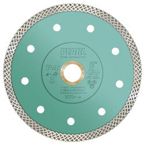 Pearl Abrasive P4 Turbo Mesh Diamond Blade for Porcelain and Granite 4 1/2 x .048 x 7/8, 20mm, 5/8 DIA45TT