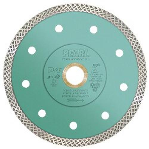 Pearl Abrasive P4 Turbo Mesh Diamond Blade for Porcelain and Granite 4 1/2 x .048 x 7/8, 20mm, 5/8 DIA45TT