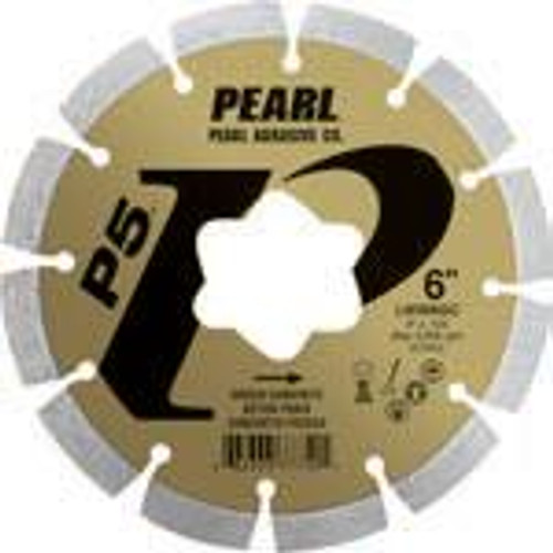Pearl Abrasive P5 Early Entry Diamond Blade Kit for Green Concrete 6 x .250 star arbor LW0062GC
