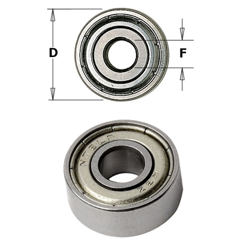 CMT Orange Tools Bearing 5/8 x 1/4 x 5mm 791.009.00
