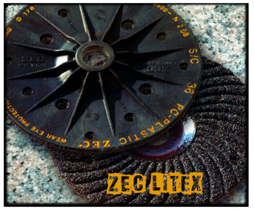 "Zec Litex Silicon Carbide 5"" x 7/8"" 25 pc Box. These are the finest disc made!! and require no backup pad."