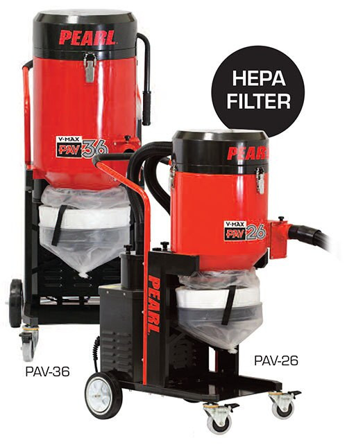 Pearl Abrasive V-MAX PAV-26 Industrial Osha Compliant Hepa Vacuum Cleaner