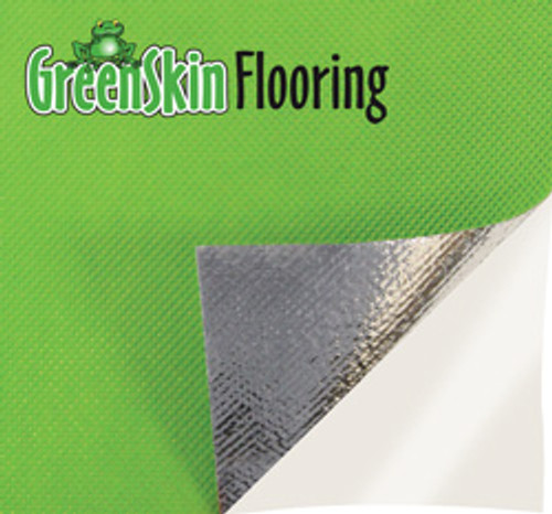 "Pearl Abrasive 36"" x 75' Green Skin Flooring Underlayment Membrane GS3675"