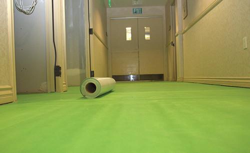 "Pearl Abrasive 36"" x 75' Green Skin Flooring Underlayment Membrane GS3675"