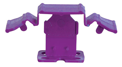 "Tuscan Truspace Purple SeamClip 3/16"" Tile Spacer for 3/8"" to less than 1/2"" Tile 500 ct Box"