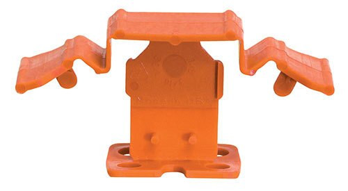 "Tuscan Truspace Orange SeamClip 1/16"" Tile Spacer for 3/8"" to less than 1/2"" Tile 150 ct Box TSC150116O"