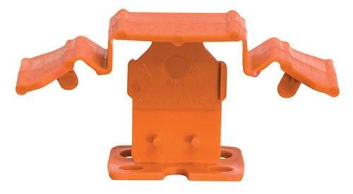 "Tuscan Truspace Orange SeamClip 1/16"" Tile Spacer for 3/8"" to less than 1/2"" Tile 150 ct Box TSC150116O"